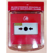 STI ALARMES INCENDIES _ Couvercle de protection d'alarme MINI PROTECT DM